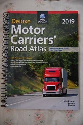 Rand McNally Motor Carriers 2019 Road Atlas USA Truckers Spiral Deluxe Edition