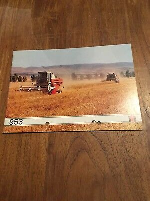 Prospectus Brochure Moissonneuse Batteuse Ih No Tracteur Tractor     Carraro