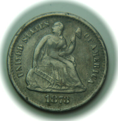 1873-S Liberty Seated Silver Half Dime - H10C - No Reserve!