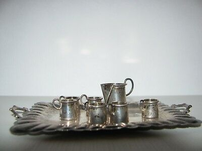 *LOOK* STERLING SILVER TRAY, PITCHER, MUGS 24.8 grams