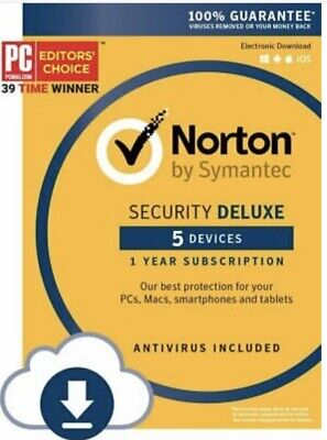 🔥 Norton by Symantec Security Deluxe 5 Devices in seconds digital delivery 🔥