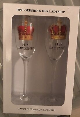 His Lordship and Her Ladyship Champagne Flutes