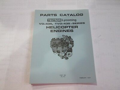 Textron Lycoming VO-435, TVO-435-Series Helicopter Engines Manual P/N PC-110