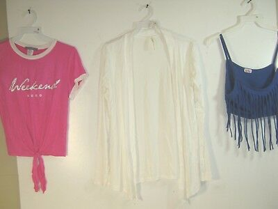 Wholesale Lot of 3 Women's Tops / Blouses  -Club Wear - Various Sizes