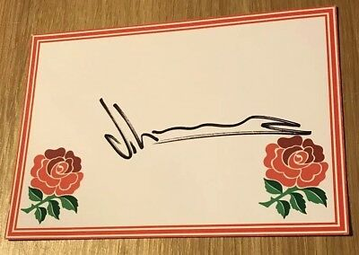 Joe Launchbury Signed England Rugby Card Wasps