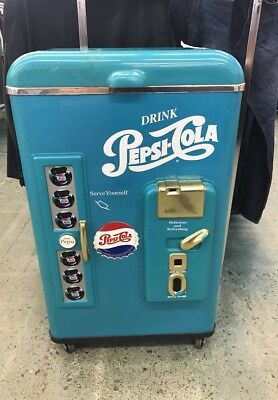 Vintage Pepsi Cola Vending Machine Cooler