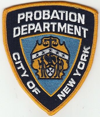 Probation Department New York Police Patch Ny