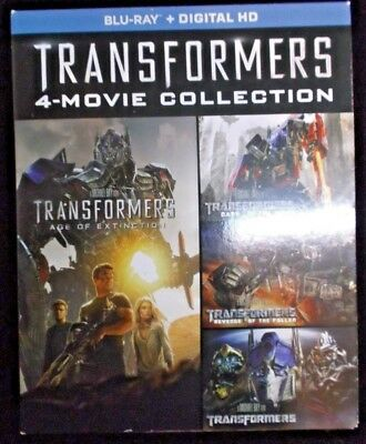 Transformers 4-Movie Collection Blu-ray  USA SELLER!
