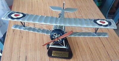 Nieuport 17C Balsa Airplane Display Model Scale 1:20 with Placard Stand