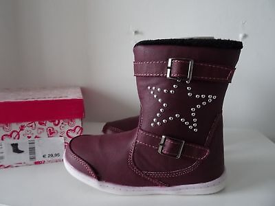 Girls Kids Burgundy Boots By Spicy Ankle Chelsea Comfortable Warm Star Studded