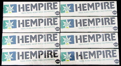 Hempire King Size Pure Hemp Rolling Papers (8 Booklets/264 Leaves Total) Swisher