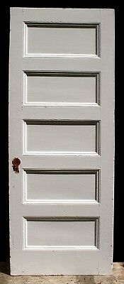 "32""x84"" Antique Vintage Interior Solid Wood Wooden Door Horizontal Stacked Panel"
