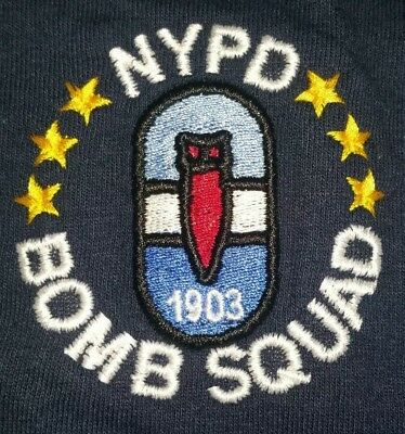 NYPD New York City Police Department NYC T-Shirt Bomb Squad T-Shirt XL NEW
