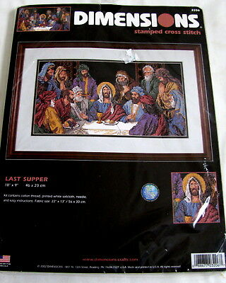 BRAND NEW Dimensions The Last Supper Religious Jesus Stamped Cross Stitch Kit