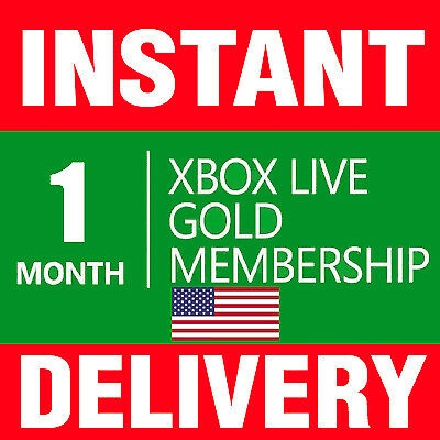 1 MONTH XBOX LIVE GOLD CODE (2x 14 Day) Microsoft Xbox One/ 360 -- INSTANT