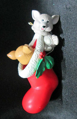 Mischeeseous Mice Mouse With Cheese Pops Out Of Stocking Christmas Ornament