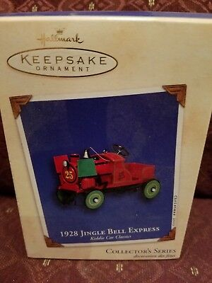 2002 Hallmark Christmas Ornament Kiddie Car Classics #9 1928 Jingle Bell Express