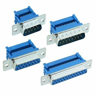 9 15 25 Way Male Female D Connector IDC Ribbon Cable Plug Socket D Sub