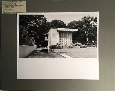 Original Photo UC Berkeley  Architecture - FRANK LLOYD WRIGHT Turkal Residence