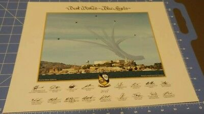 """Official 2017 US NAVY BLUE ANGELS  11""""x14"""" PRINT LITHO over Alcatraz."""
