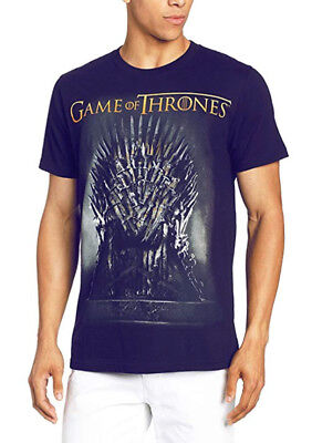 Game Of Thrones IRON THRONE T-Shirt Navy NWT Licensed & Official