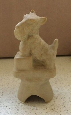 CERAMIC COLLECTABLE PIE VENT SAND SCOTTIE DOG made by BOYD USA