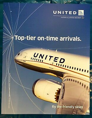 United Airlines Poster 787