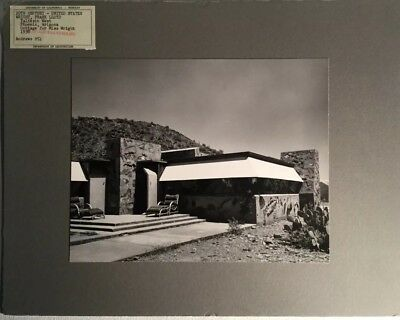 Original Photo UC Berkeley  Architecture - FRANK LLOYD WRIGHT Taliesin West