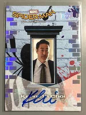 Spider-Man Homecoming KENNETH CHOI Autograph Card Spiderman Upper Deck