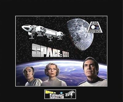 """SPACE 1999 Main Cast 8""""x10"""" Collage Photo -11"""" x 14"""" Black Matted"""