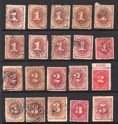 20 old Postage Due stamps.