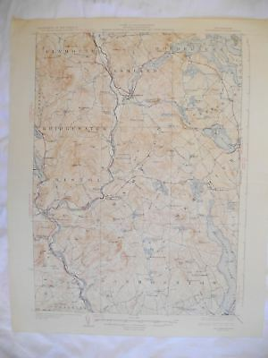 1927 Holderness NH New Hampshire USGS Topographic Topo Map