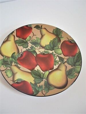 Vintage Collectible Decorative Wall or Display Fruit Painted Plate