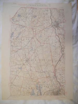 1944 Manchester, NH New Hampshire USGS Topographic Topo Map