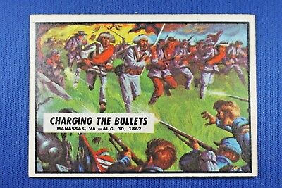 "1962 Topps Civil War News - #30 ""Charging The Bullets"" - Excellent Condition"