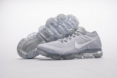 NEW Nike Air VaporMax Flyknit Pure Platinum Wolf Grey White 849558 004 EU40-45