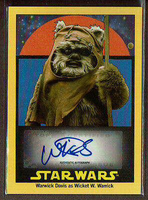 2017 Topps Star Wars 1978 Sugar Free Wrappers Warwick Davis Autograph /5 Auto