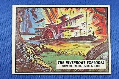 "1962 Topps Civil War News - #45 ""The Riverboat Explodes"" - Excellent Condition"