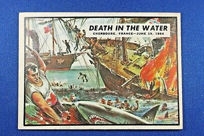 "1962 Topps Civil War News - #69 ""Death In The Water"" - Excellent Condition"