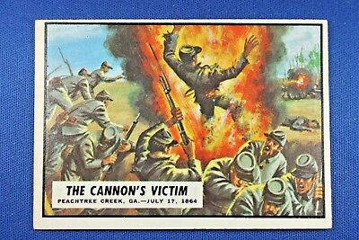 "1962 Topps Civil War News - #72 ""The Cannon's Victim"" - Excellent Condition"