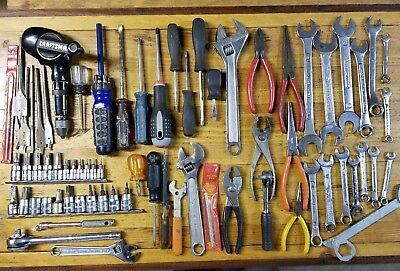 MIXED Tools Lot • Wrenches Ratchets Estate Vintage Junk Drawer Lot Collectible