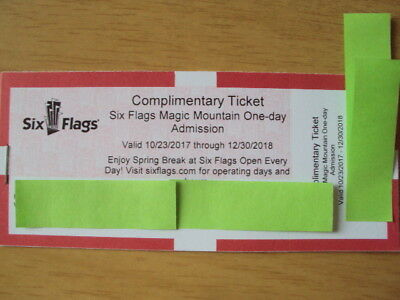 One Six Flags Magic Mountain Holidays at the Park One Day Ticket December 2018
