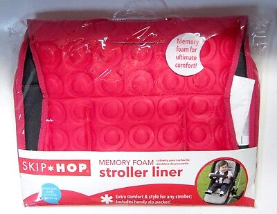 SKIP HOP Memory Foam Stroller Liner Cushion Mat Pad Cover Protector Padding Red