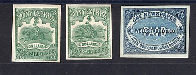 3 counterfeit Local stamps by Samuel Taylor.