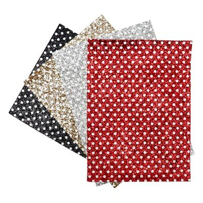 22*30cm Dots Printed Chunky Synthetic Leather Fabric Sheet DIY Crafts Materials