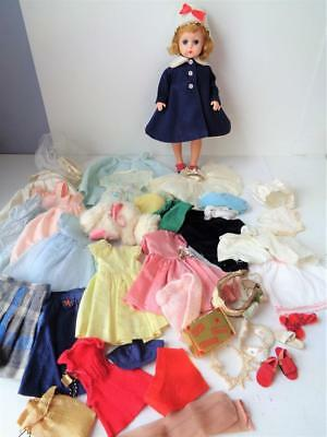 1957 Madame Alexander Lissy Doll 50+ Pc Lot Clothes Some Tagged Shoes Purse