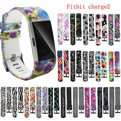 Replacement Silicon Wrist Sport Band Strap Bracelet + Buckle For Fitbit Charge 2