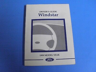 1999 Ford Windstar Owner Guide Manual