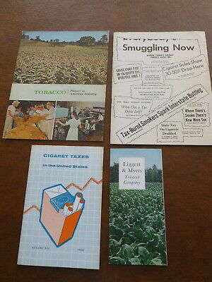LOT OF (4) VINTAGE CIGARETTE INDUSTRY PUBLICATIONS 1964-1967 - taxes, smuggling,