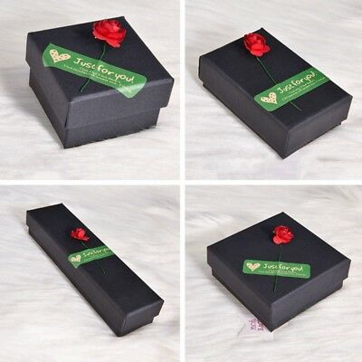Rose Black Jewellery Gift Box Ring Necklace Bracelet Earring Watch Small Present
